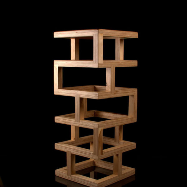 Handmade wooden bar stool
