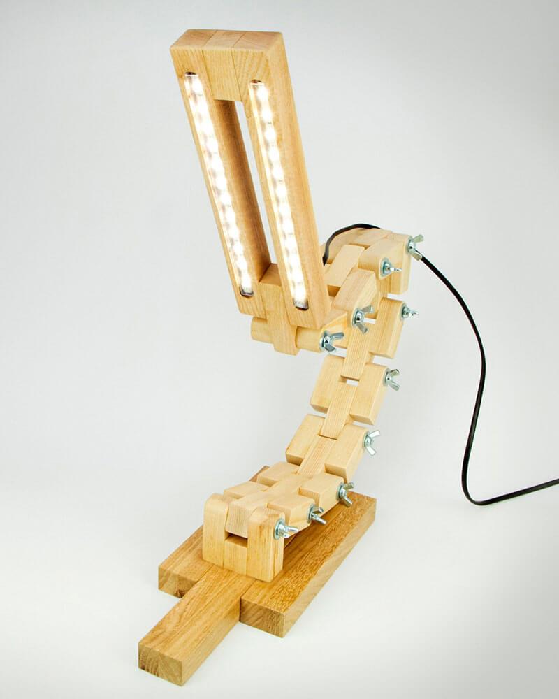 Wooden led lamp DL017